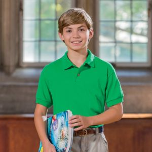 ® DryBlend® Youth Jersey Polo Thumbnail