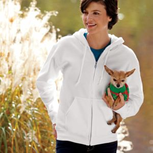 ® DryBlend® Adult Full-Zip Hooded Sweatshirt Thumbnail
