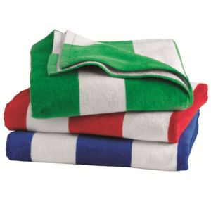 Cabana Stripe Velour Beach Towel Thumbnail