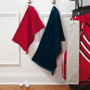 by Anvil Fringed Fingertip Towel with Corner Grommet and Hook Thumbnail