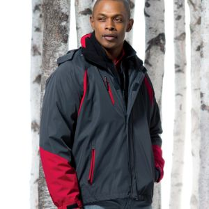 UltraClub Adult Color Block 3-in-1 Systems Hooded Jacket Thumbnail