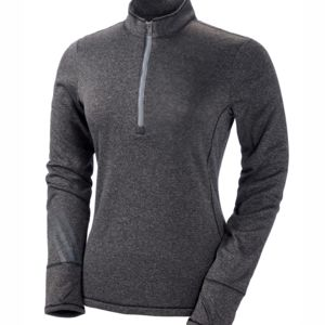Ladies' Heather 3-Stripes 1/4-Zip Fleece Thumbnail