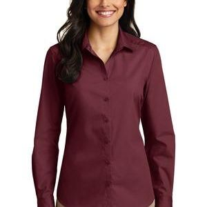 Ladies Long Sleeve Carefree Poplin Shirt Thumbnail