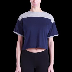 Ladies' 5.8 oz. Boxy Yoke Recycle Tee Thumbnail